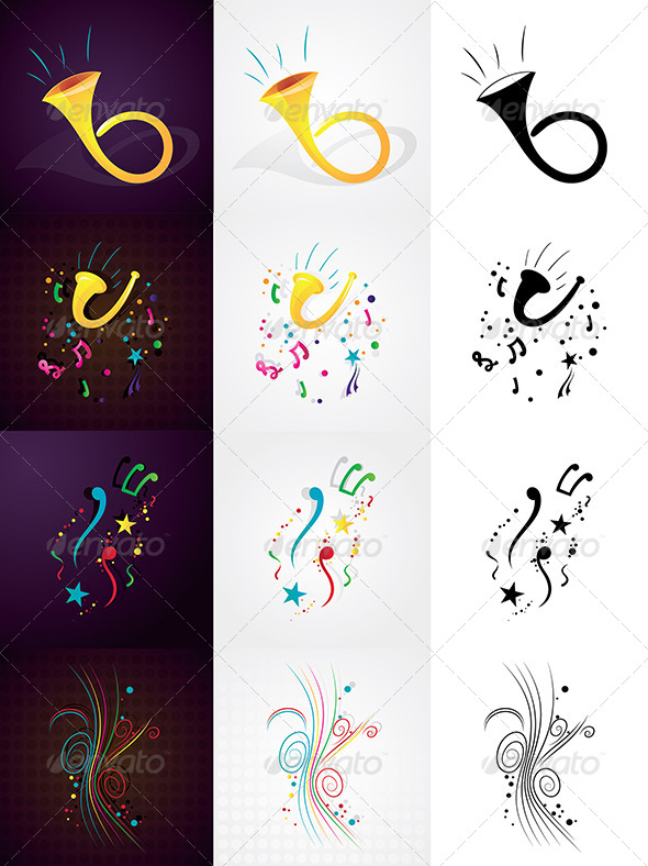 GraphicRiver Music Design Elements 5094890