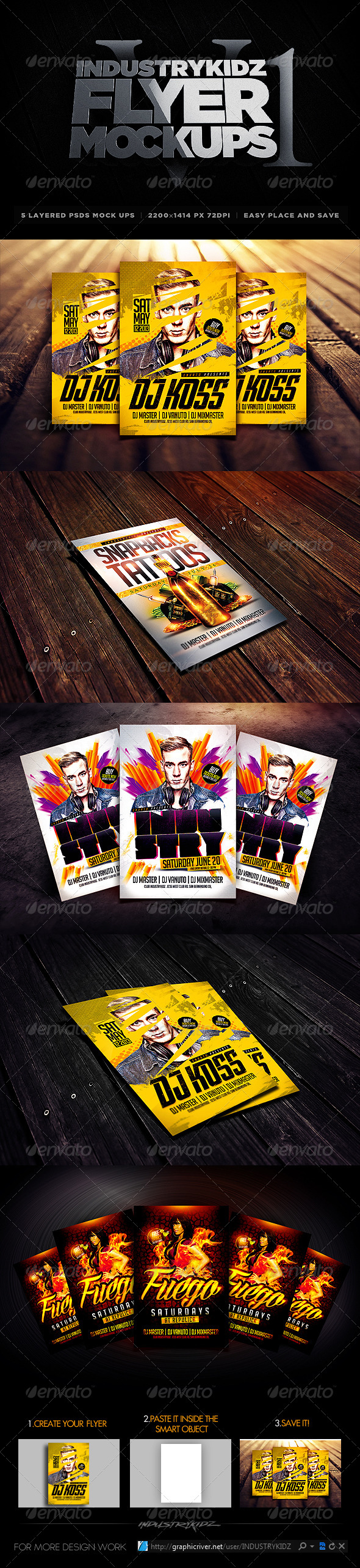 GraphicRiver Flyer Mock-Ups 5094947