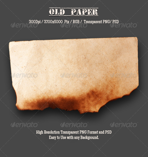 Burnt Old Paper 8 - Miscellaneous Isolated Objects