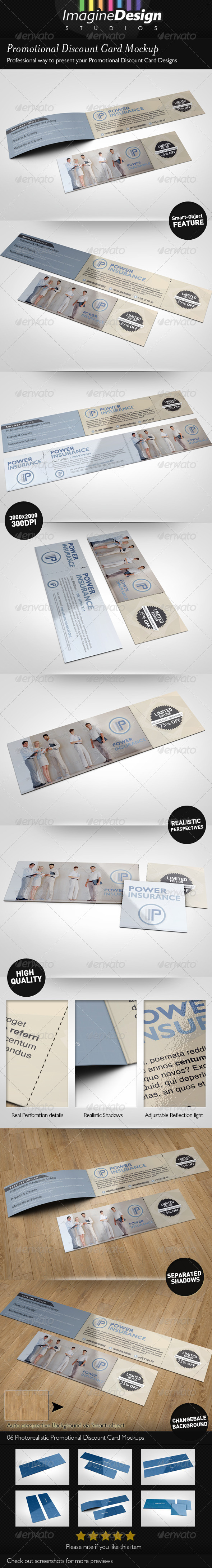 GraphicRiver Promotional Discount Card Mockup 5096535