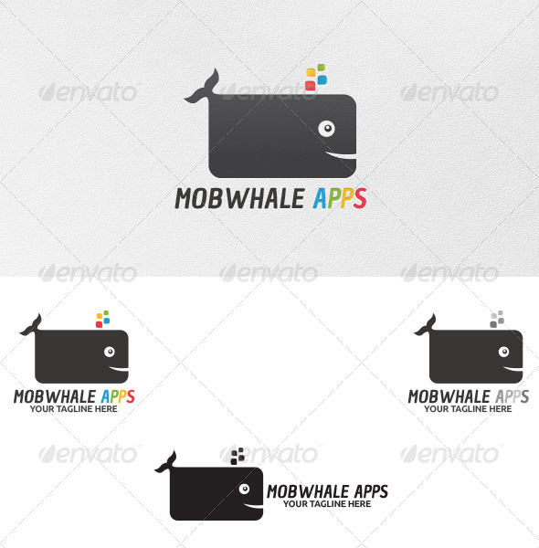 GraphicRiver Mobwhale Apps Logo Template 5096546