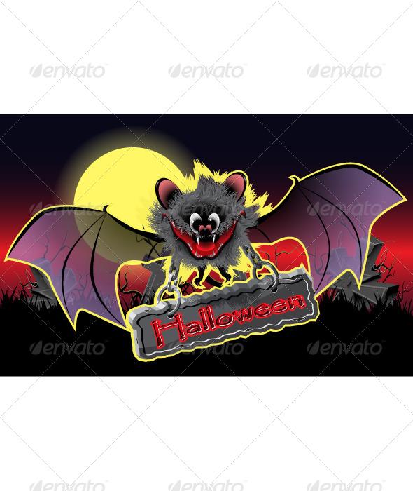 GraphicRiver Halloween Bat 5096554