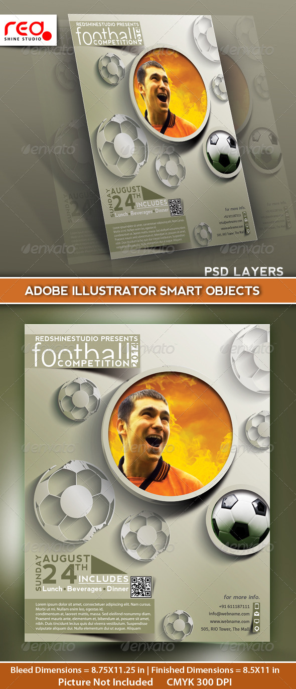 GraphicRiver Football Competition Flyer Poster & Magzine Cover 5096561
