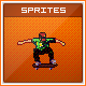 Retro Skateboarding Game Scene - Sprite Sheets - GraphicRiver Item for Sale