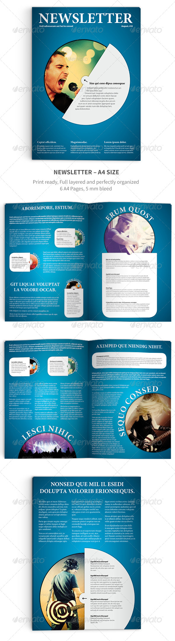 GraphicRiver Newsletter Vol 11 Indesign Template 5097339