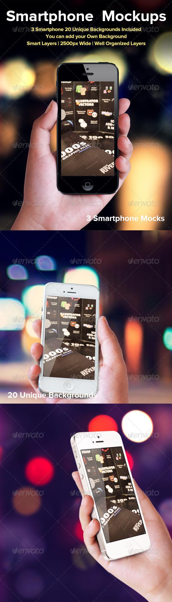 GraphicRiver Smartphone Mockup 4597635