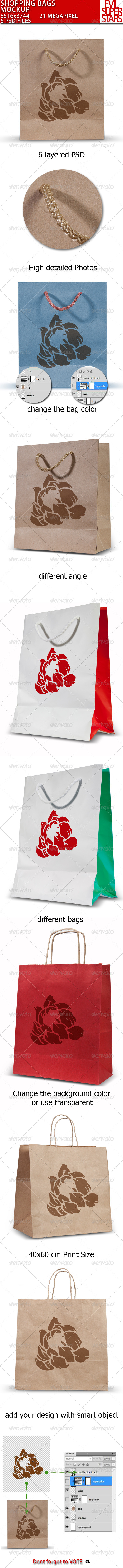GraphicRiver Shopping Bags Mock-up 5025510