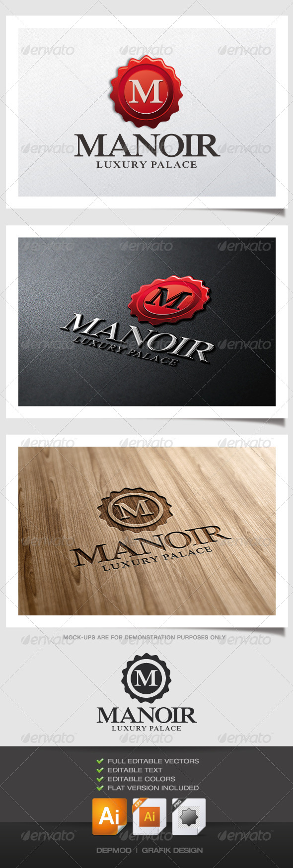 Manoir Logo - Crests Logo Templates