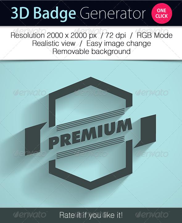 Grapulo's 3D Badge Generator - Styles Photoshop