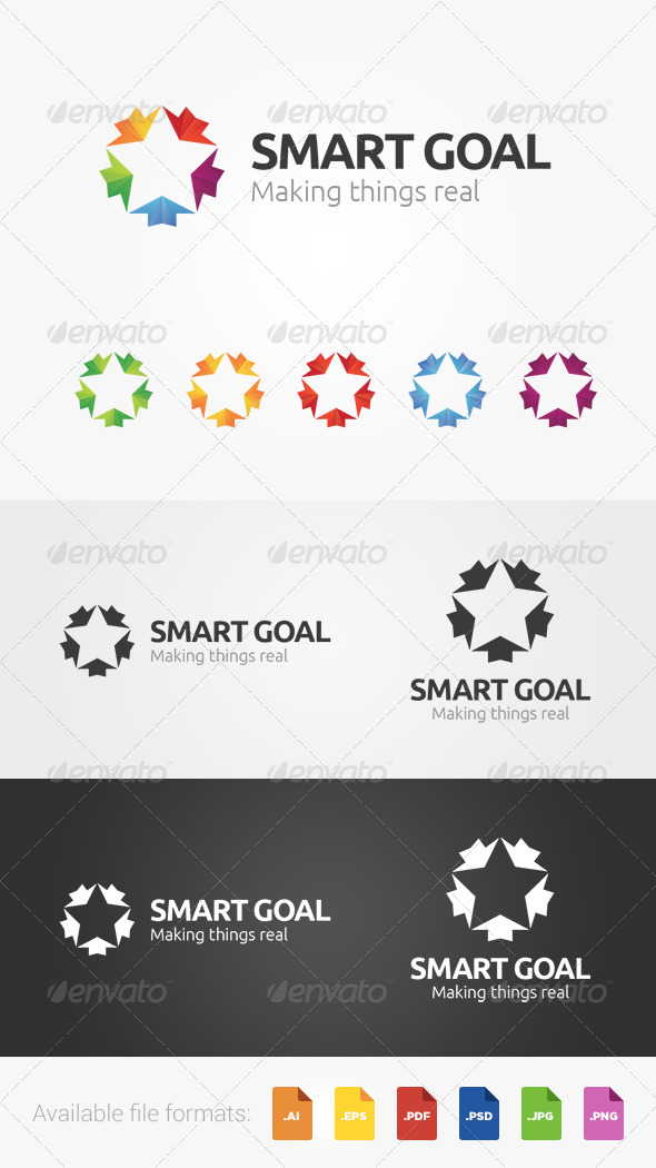 Smart Goal Logo - Abstract Logo Templates