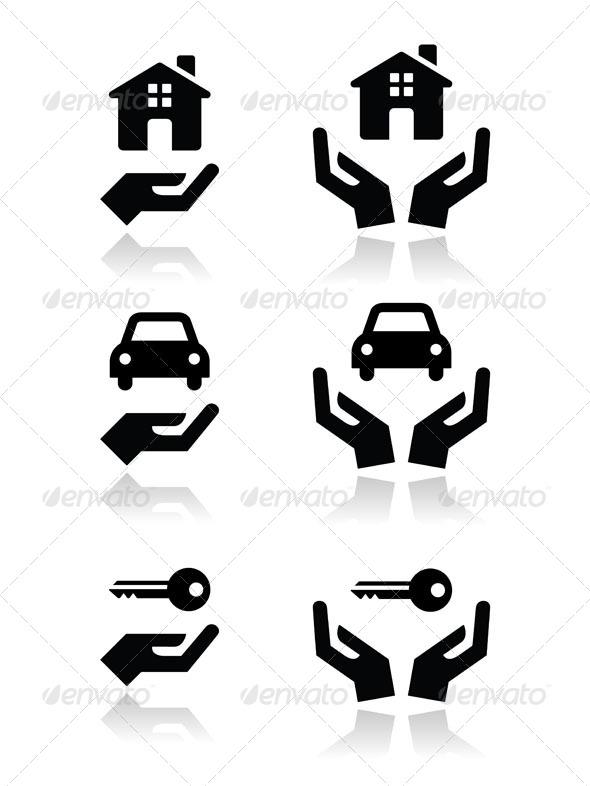 GraphicRiver Hands Icon Set 5098625