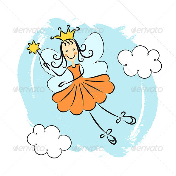 Fairy Princess with Magic Wand