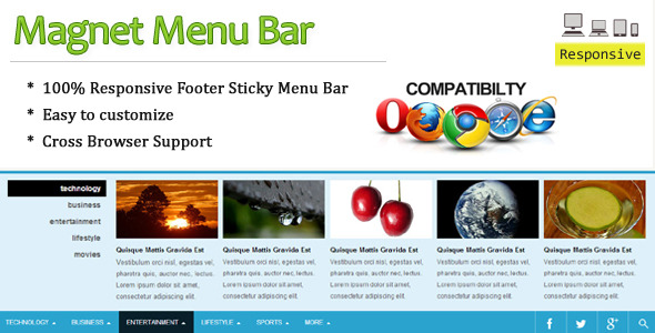 Magnet Menu Bar - CodeCanyon Item for Sale