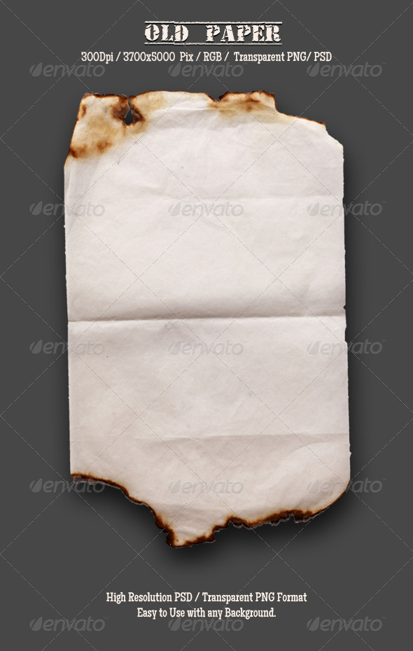 GraphicRiver Burnt Old Paper 5 4788398