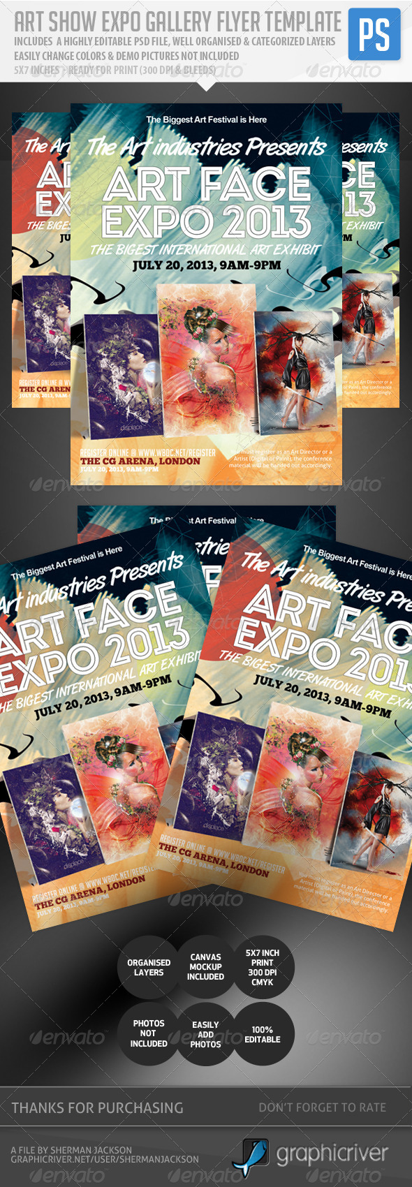 Art Show Expo Flyer Template V.2 - Events Flyers