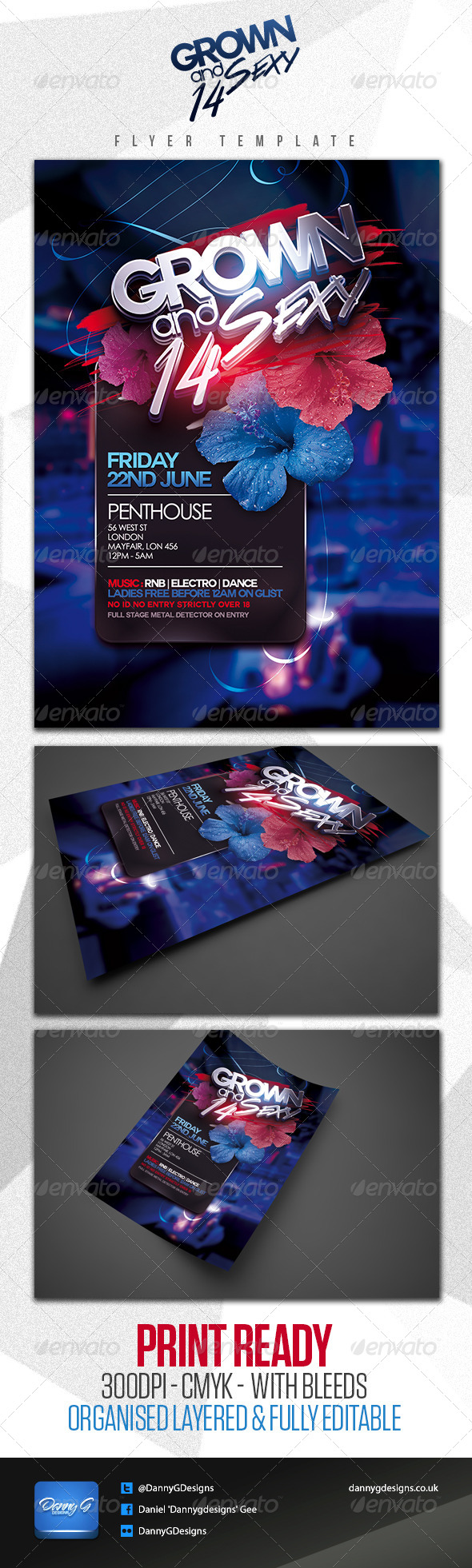 Grown & Sexy '14 Flyer Template - Clubs & Parties Events