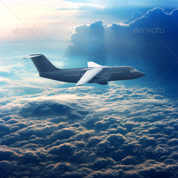 Commercial airliner - Stock Photo - Images