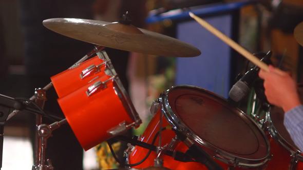 Boy Plays on Drum 4