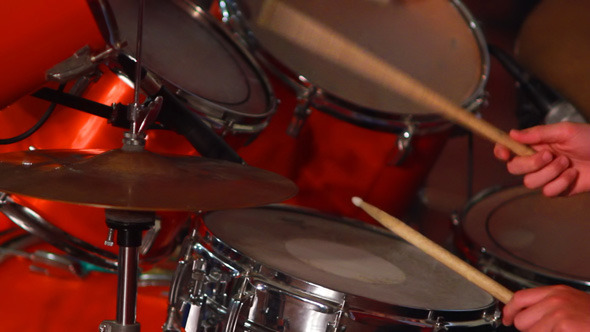 Boy Plays on Drum 5