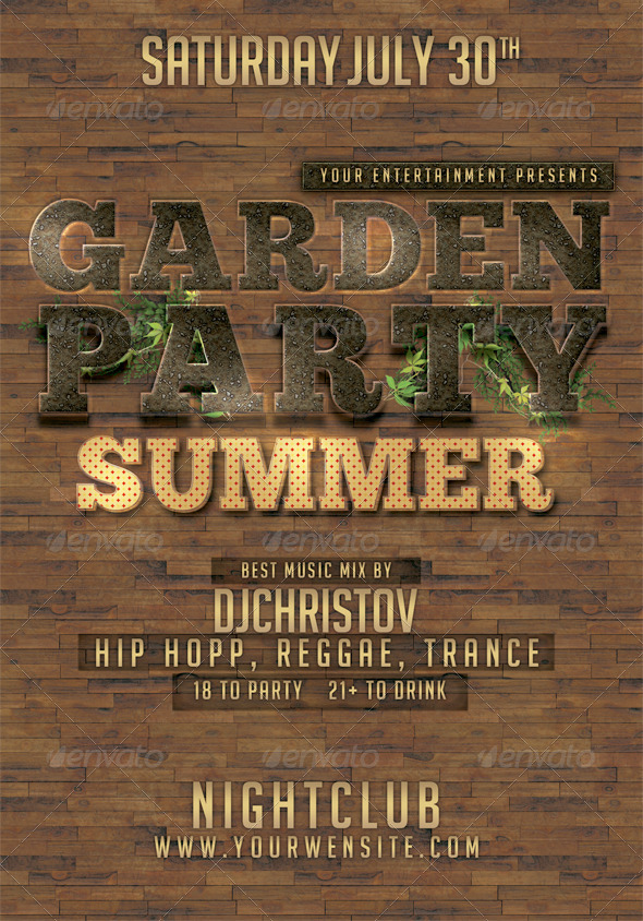 GraphicRiver Garden Party Flyer Template 4634904