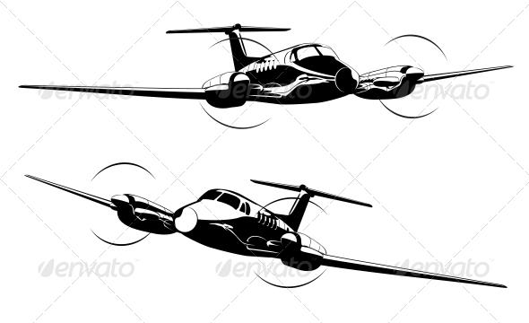 GraphicRiver Civil Utility Aircraft 5100102