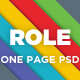 Role - One Page Portfolio PSD Template - Creative PSD Templates