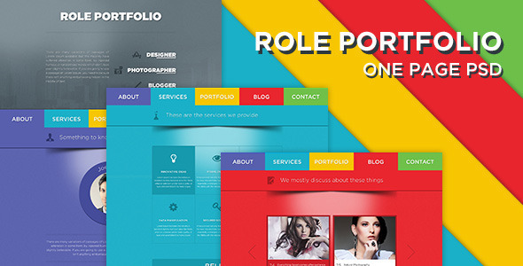 ThemeForest Role One Page Portfolio PSD Template 5100247