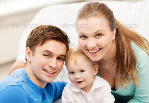 happy family with adorable baby - Stock Photo - Images