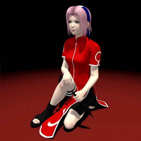 3DOcean Naruto Sakura Haruno 3D Model 01 5100335