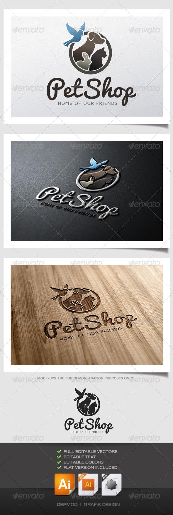 GraphicRiver Pet Shop Logo V.02 5100361