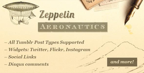ThemeForest Zeppelin Vintage Style Tumblr Theme 5075759