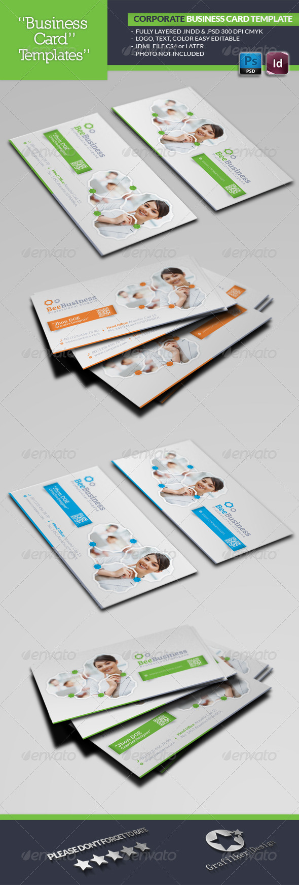 GraphicRiver Corporate Business Card Template 5100531