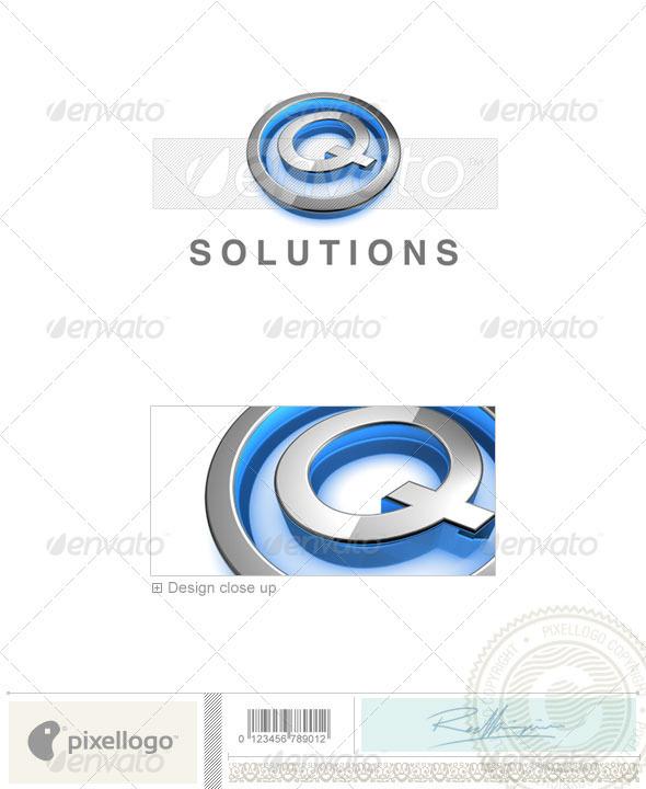 Logo - 3D-683-Q ...Q Logo 3d