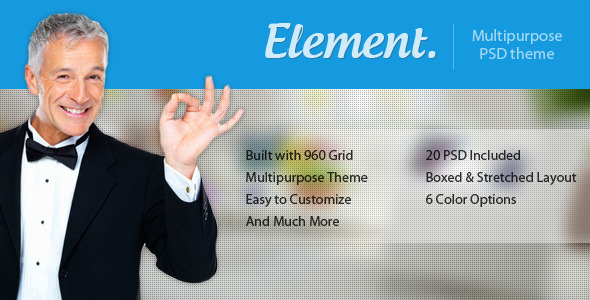 Element - Multi Purpose PSD Template