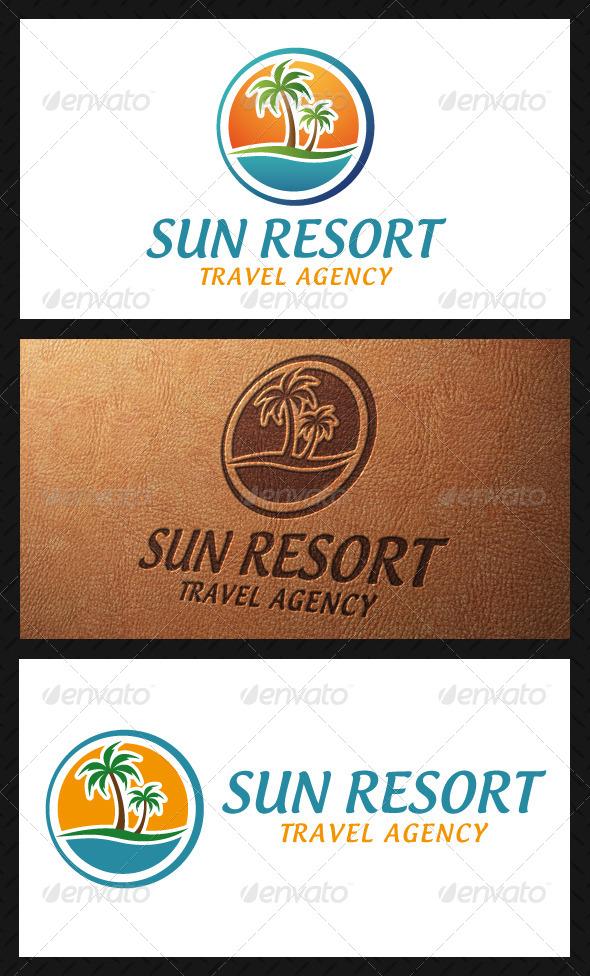 GraphicRiver Sun Resort Logo Template 5084234