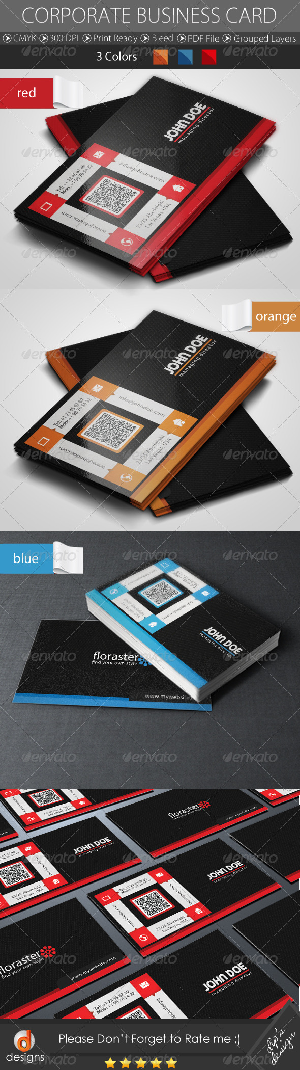 GraphicRiver Corporate Business Card 5100825