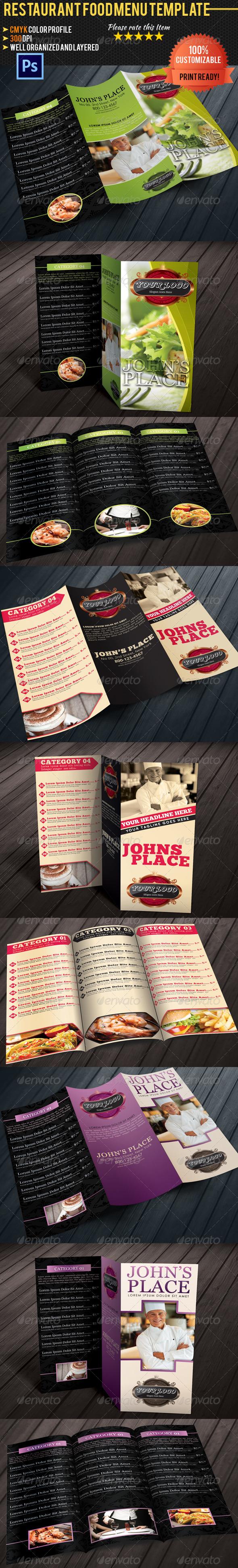 GraphicRiver Tri-fold Restaurant Food Menu Template Bundle 02 5100827