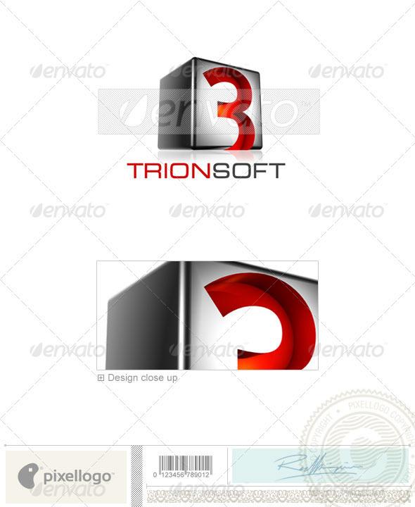 Technology Logo - 3D-523