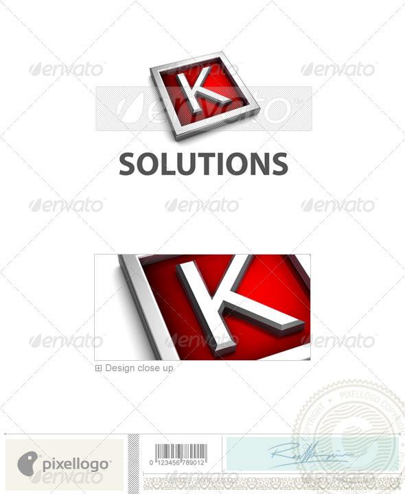 Logo - 3D-549-K ...K Logo 3d