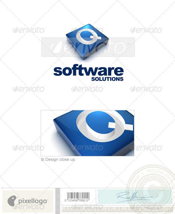 Logo - 3D-644-Q ...Q Logo 3d
