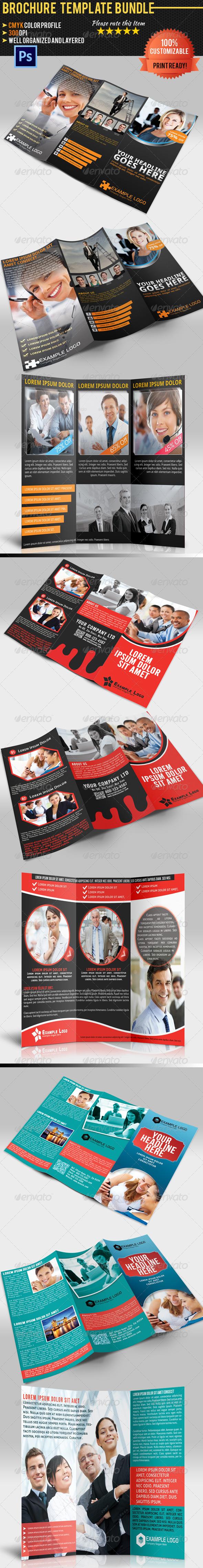 GraphicRiver Tri-Fold Corporate Business Brochure Bundle 02 5100880