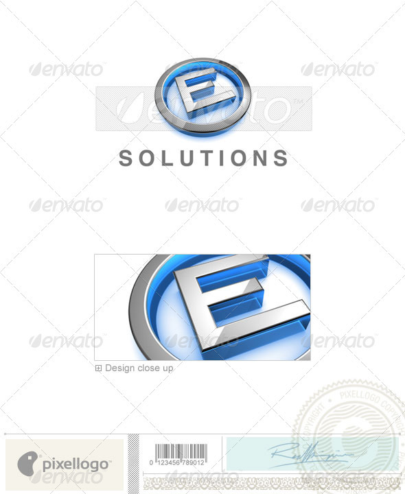 E Logo 3D-683-E