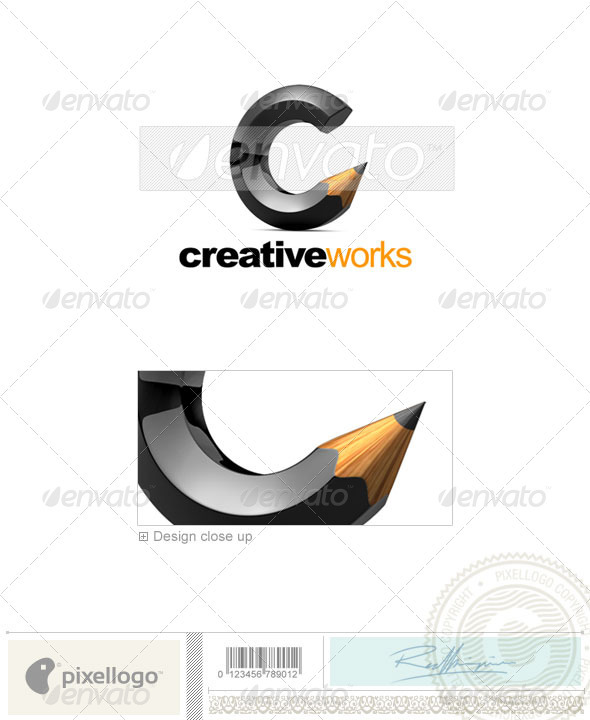 Print & Design Logo - 3D-555 - 3d Abstract