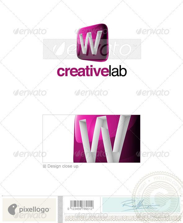 W Logo 3D-687-W