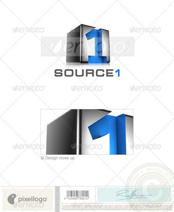 Technology Logo - 3D-521