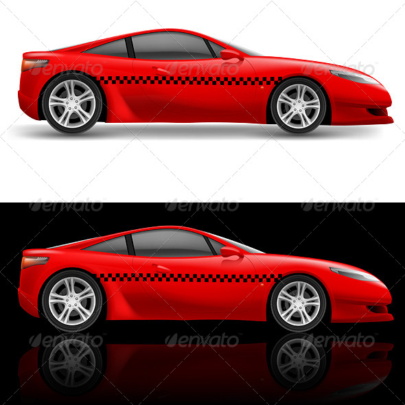 GraphicRiver Red Sports Car 5100916