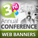 Conference Web Banners PSD Templates - GraphicRiver Item for Sale