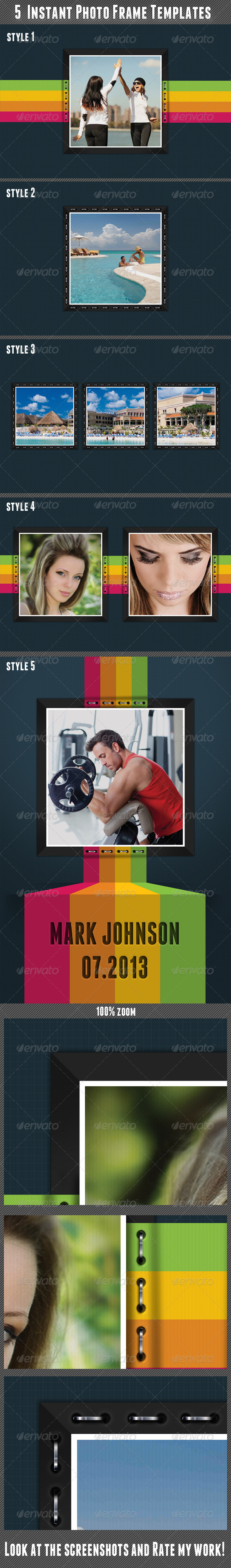 GraphicRiver Instant Photo Frame Templates 5101719