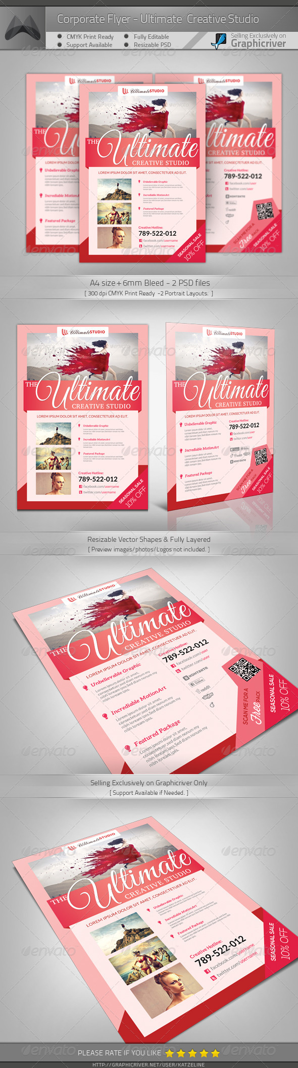GraphicRiver Creative Studio A4 Flyer Template 5102381