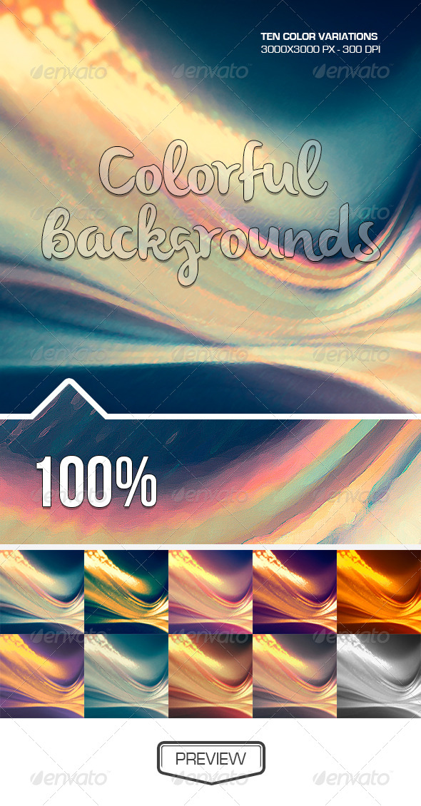 GraphicRiver Abstract Curves Backgrounds 5102390